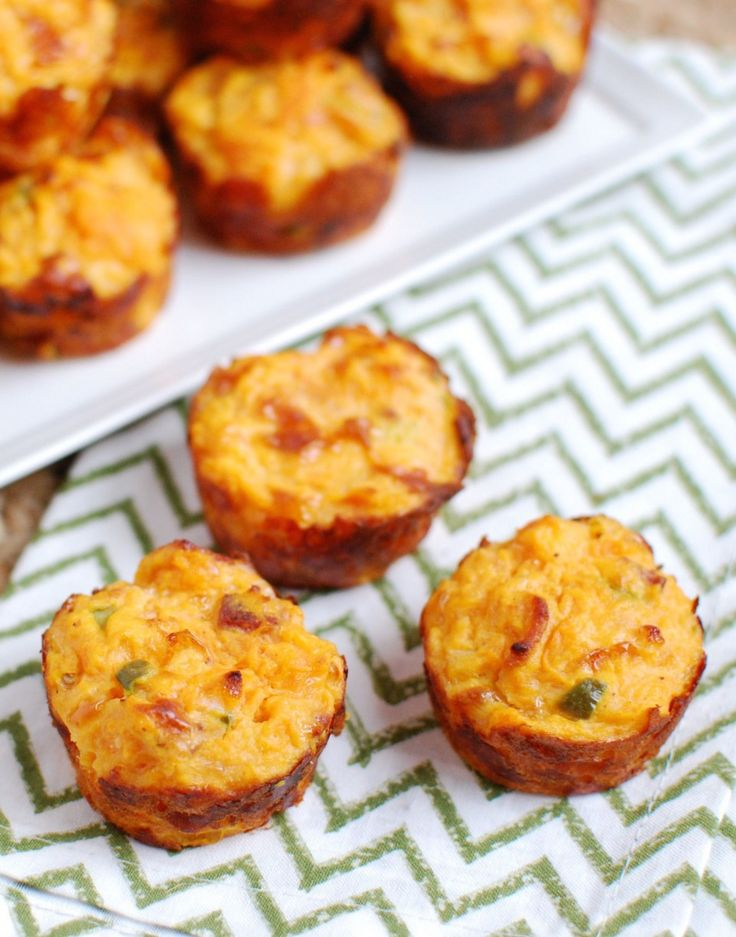 These cheesy sweet potato puffs from @lclivingston make a low-carb, crowd-pleasing snack under 200 calories! #jalapeno