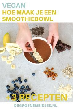 Hoe maak je een smoothie bowl? Lees onze tips en 3 heerlijke recepten met fruit. Ideaal als ontbijt, gezond en heerlijk fris.