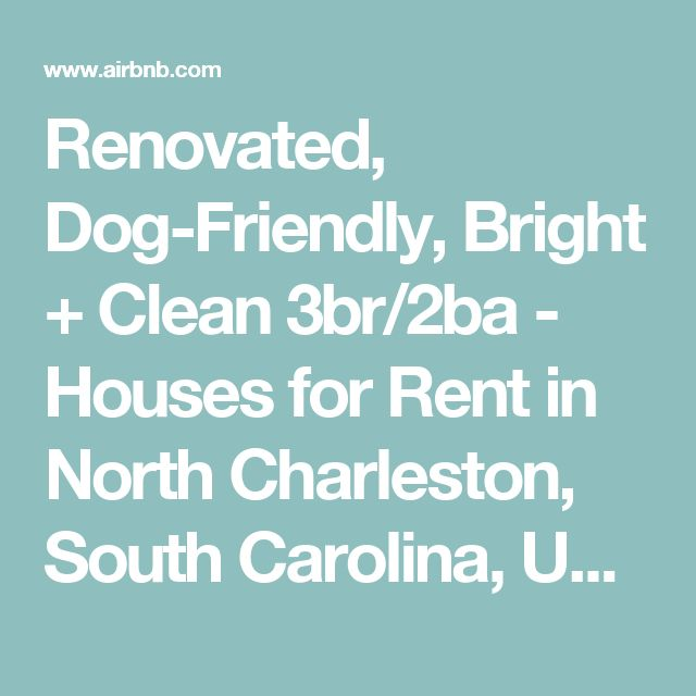 Renovated, Dog-Friendly, Bright + Clean 3br/2ba - Houses for Rent in North Charleston, South Carolina, United States