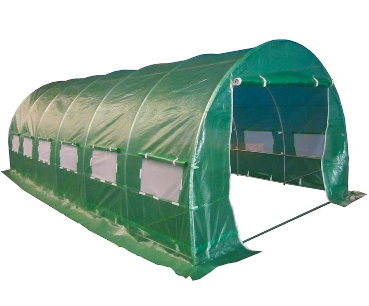 New Polytunnel Greenhouse Pollytunnel Poly Tunnel Cover Only 6m x 3m 6 Section