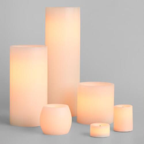 One of my favorite discoveries at WorldMarket.com: Ivory Flameless LED Candles