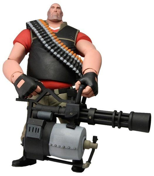 Team Fortress 2 Deluxe Heavy Action Figure (Red) - The Movie Store