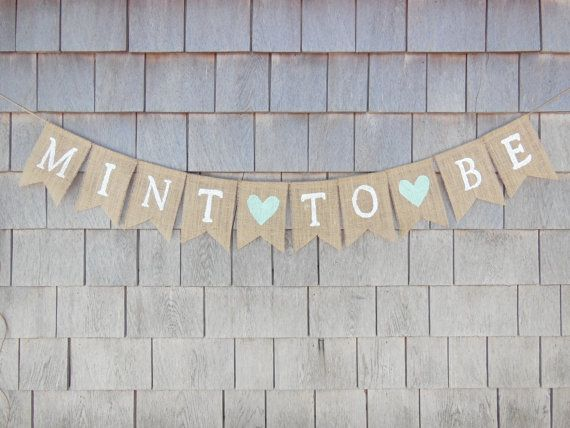 Mint to Be Banner Mint To Be Shower Decor by IchabodsImagination