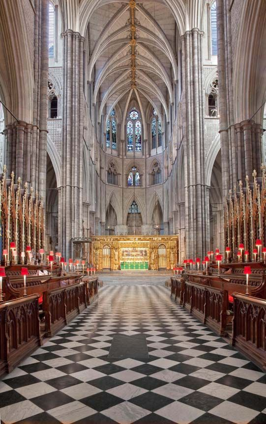 """Interior of Westminster Abbey, London... My one """"miss"""" in London when I was there. We arrived just after they had closed early for the day so that they could get ready for the Queen's 50th Jubilee. I was devastated to have missed this."""