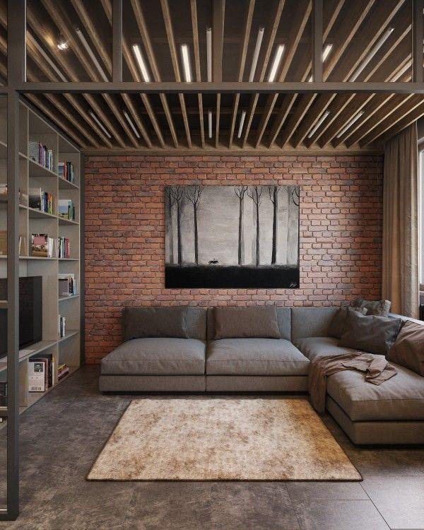 Lighting Ideas Ceiling Basement Media Room: Best 25+ Brick Design Ideas On Pinterest