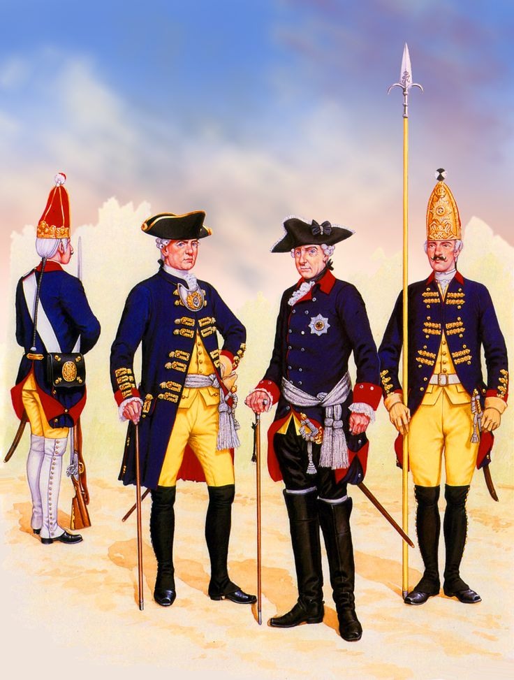 King Frederick the Great with his Grenadier Guard Battalion during the Seven Years War