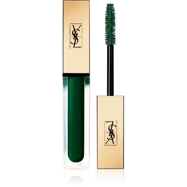 Yves Saint Laurent Beauty Women's Mascara Vinyl Couture ($29) ❤ liked on Polyvore featuring beauty products, makeup, eye makeup, mascara, green, yves saint laurent mascara, yves saint laurent, glossy eye makeup, glossier mascara and conditioning mascara