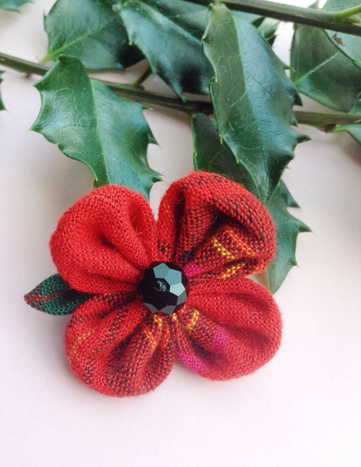 Mens Lapel Pin Flower Lapel Pin Red Poppy Lapel Veterans Day Remembrance Kanzashi Pin Custom Lapel Pins Men Plaid Boutonniere Gifts For Him by exquisitelapel on Etsy https://www.etsy.com/listing/250217846/mens-lapel-pin-flower-lapel-pin-red