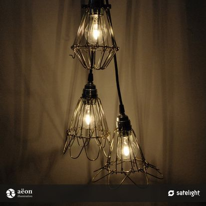 Lule Pendant Lighting Collection - Aëon Illumination - Rustic, brass cage pendant lights