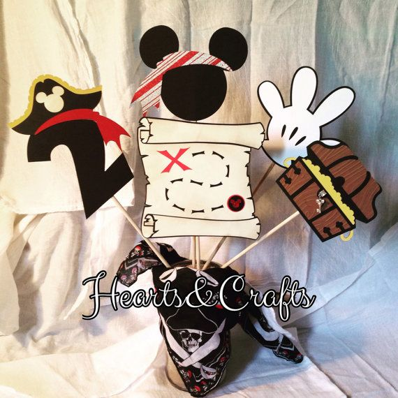 Mickey pirate Centerpiece by HeartsandCrafts520 on Etsy