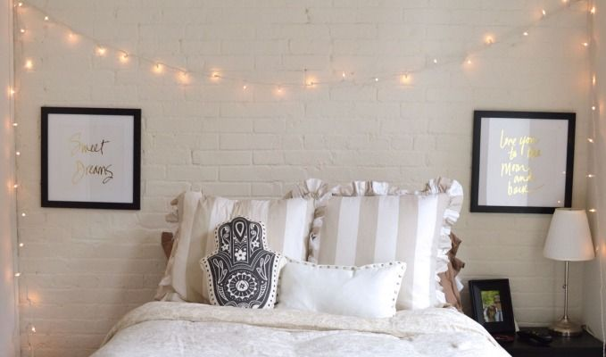 String lights don't need to be synonymous with the holiday season. Here are some chic ways to incorporate a little twinkle into your room decor all year long. Pick up your lights at Dormify.com and happy decorating! Hang lights around the perimeter of your room. This will certainly create a cozy, romantic feel in any space! Image via Style Advisor @alistagnitta Use string lights to showcase your favorite photographs. Drape your lights across a wall and use clothespins to hang pictures of you…