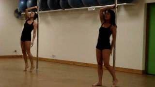 Beginners Pole Dance Routine 3, via YouTube.