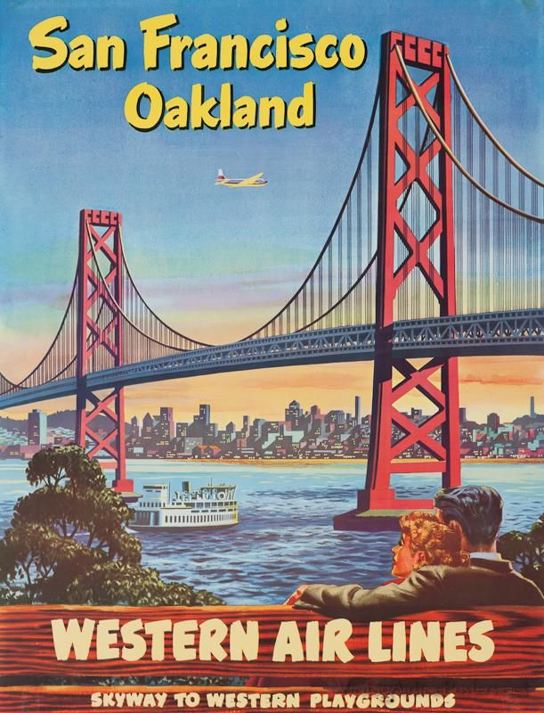 Western Airlines poster SF