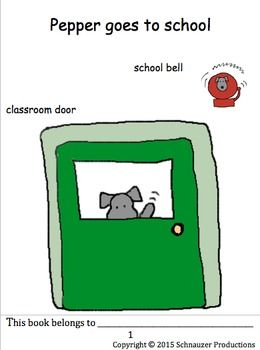 """Pepper goes to school to learn twenty-five classroom items and related sentences in English.  This package includes two booklets, a PowerPoint, posters for younger students to write on, writing practice and quiz sheets, and Pepper's Classroom Items to Use as Labels, Cards or as """"at-a-glance"""" Sheets."""
