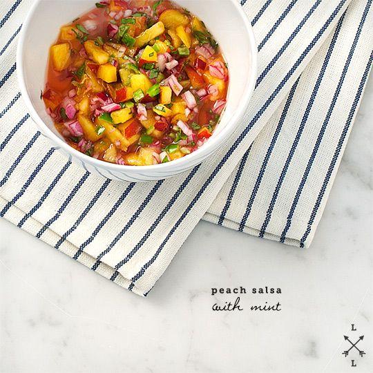 peach salsa with mint
