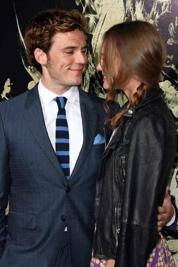 """And how Sam Claflin is thinking, """"WELL DONE ME."""" 