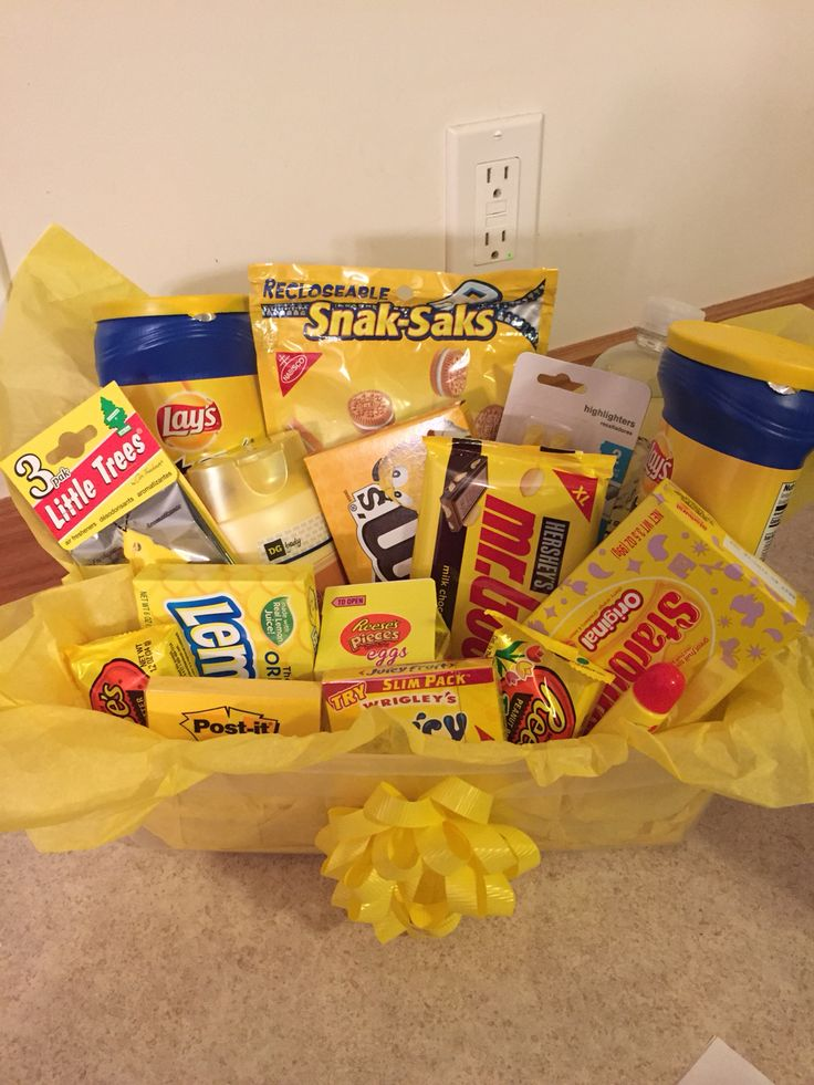 """You are my sunshine"" just because gift basket I made for my Husband and he LOVED it!! I added a card and a note that read ""Just a little sunshine to brighten your day"""