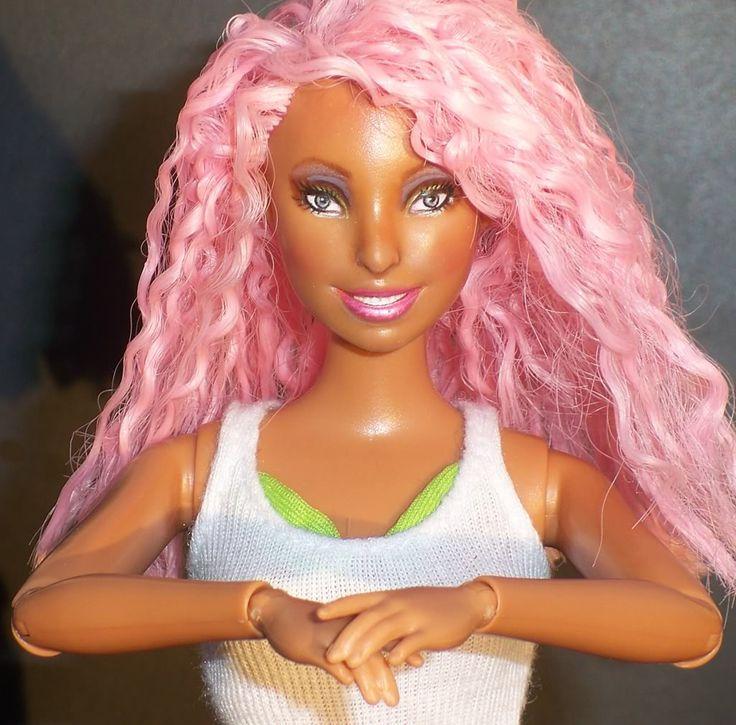 nikki minaj doll | Ooak Nicki Minaj Pivotal Barbie Doll Singer ...