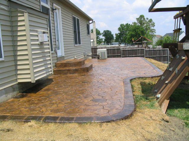 ... Front Porch Pinterest Shape, Concrete patios and Stamped concrete