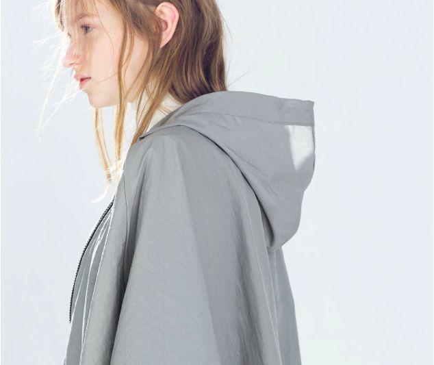 lovely details, zara raincoat