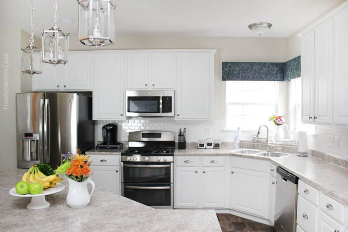 How To Install A Kitchen Backsplash The Best And Easiest Tutorial In 2020 White Subway Tile Kitchen Cheap Countertops Countertops