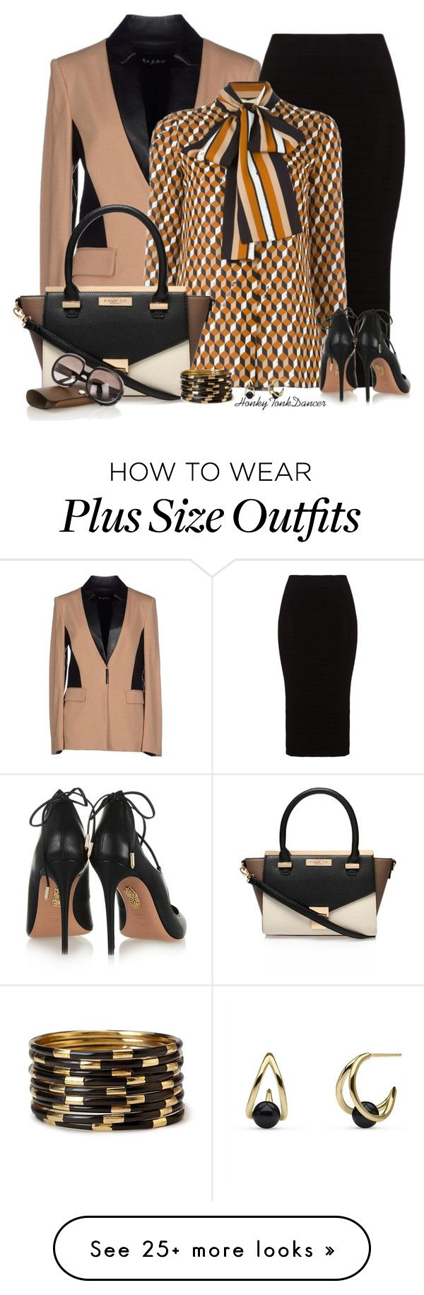 """""""Black,Brown And Cream"""" by honkytonkdancer on Polyvore featuring byblos, Mat, Xirena, Carvela Kurt Geiger, Aquazzura, Forever 21, women's clothing, women, female and woman"""