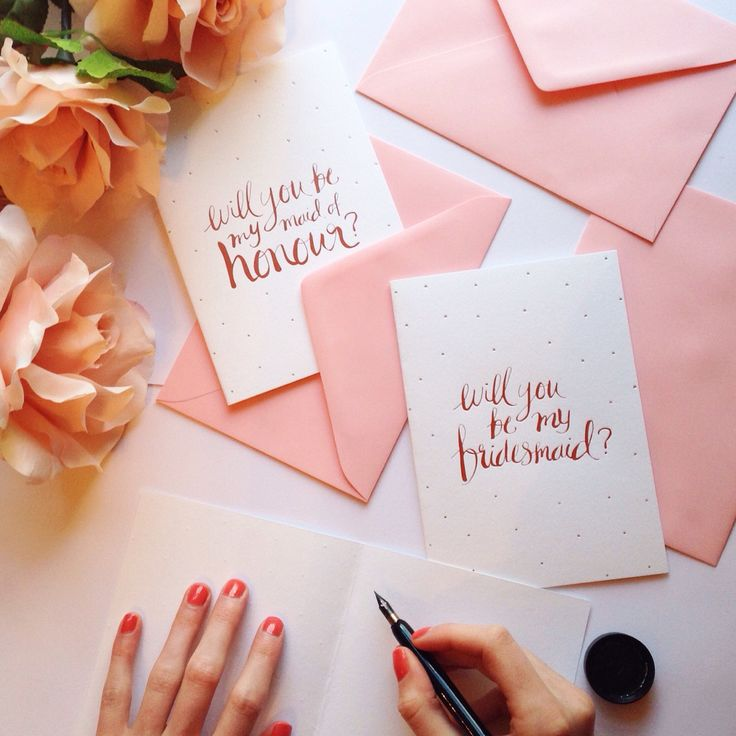 Wedding Stationery. Will You Be My Maid of Honour/Bridesmaid Cards.