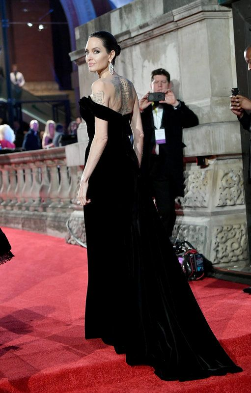 (Samir Hussein via Getty Images) Photos From The Baftas Red Carpet: Angelina Jolie attends the EE British Academy Film Awards (BAFTAs) held at Royal Albert Hall on February 18, 2018 in London, England