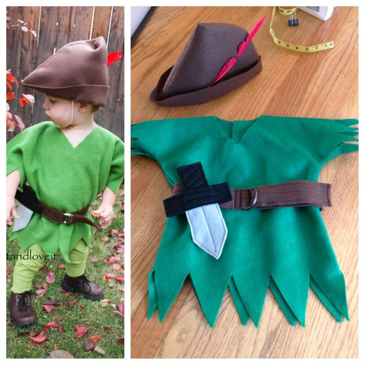 Kids Peter Pan costume - sweat pants instead of tights