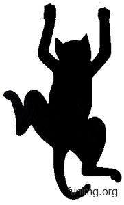 Силуэт кота для декора не только стен, но и мебели