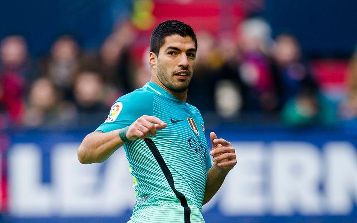 Download wallpapers Luis Suarez, Barcelona FC, Spain, Catalonia, Uruguayan footballer