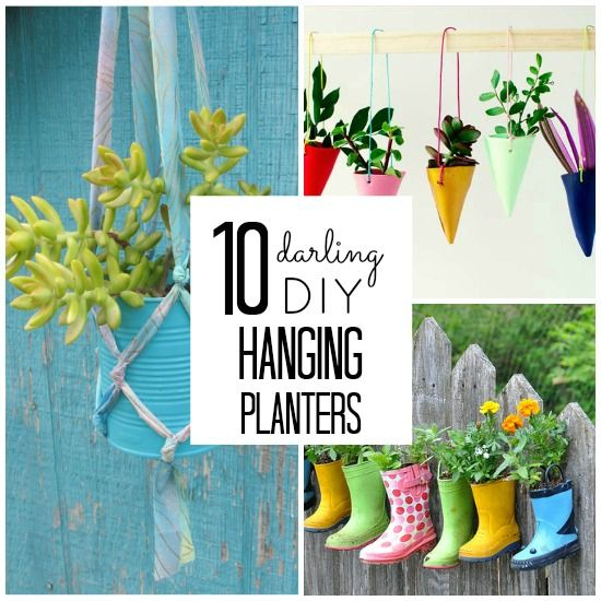 Have a small space in need of some green? Check out these adorable DIY hanging planters!