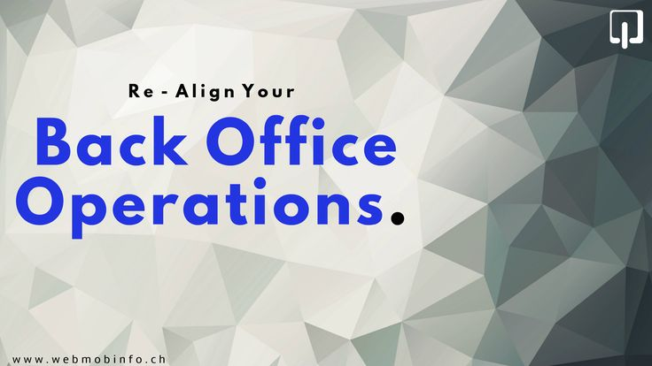 Managing everyday operations can eat up your productive time. If you are spending too much time and effort on managing your daily operations, you need to re-align your Back Office Operations: http://goo.gl/UKW2ZC