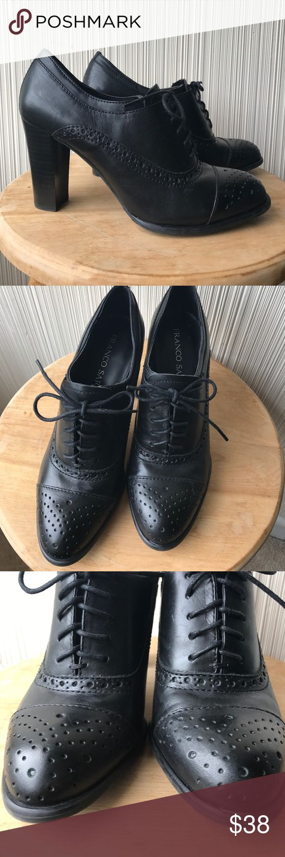 Franco Sarto Barlie Oxford NWOB. Gorgeous oxfords with perforated detailing. Lace up. Genuine leather. Franco Sarto Shoes