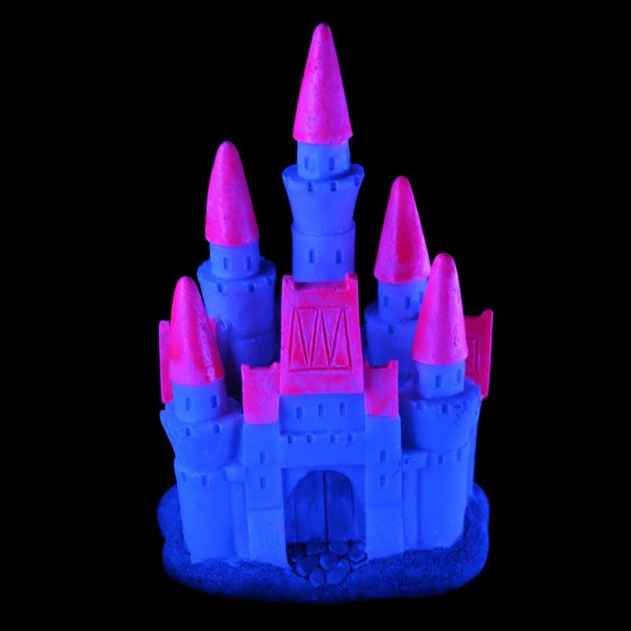 Glow elements princess castle neon pink princess for Neon fish tank