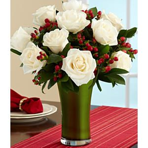 Christmas Flower Arrangements - change the accent flower for different seasons