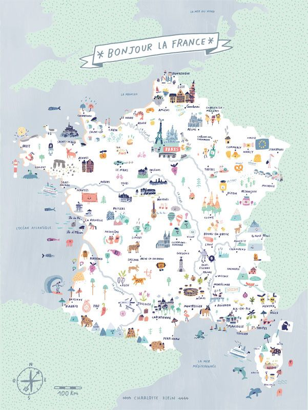 Map Of France Bonjour La France Charlotte Klein