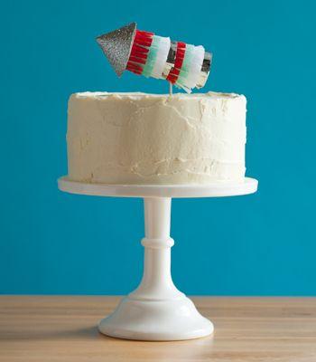 DIY Cake Topper | Fringed Firework Cupcake Topper | Confetti Pop