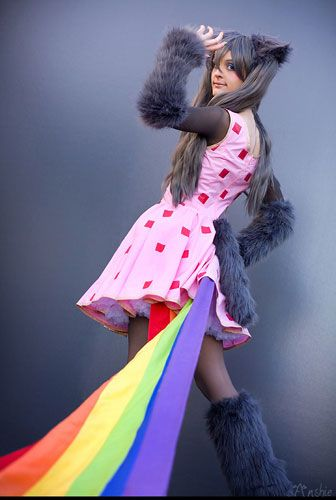 One of the better Nyan Cat cosplays I have seen.