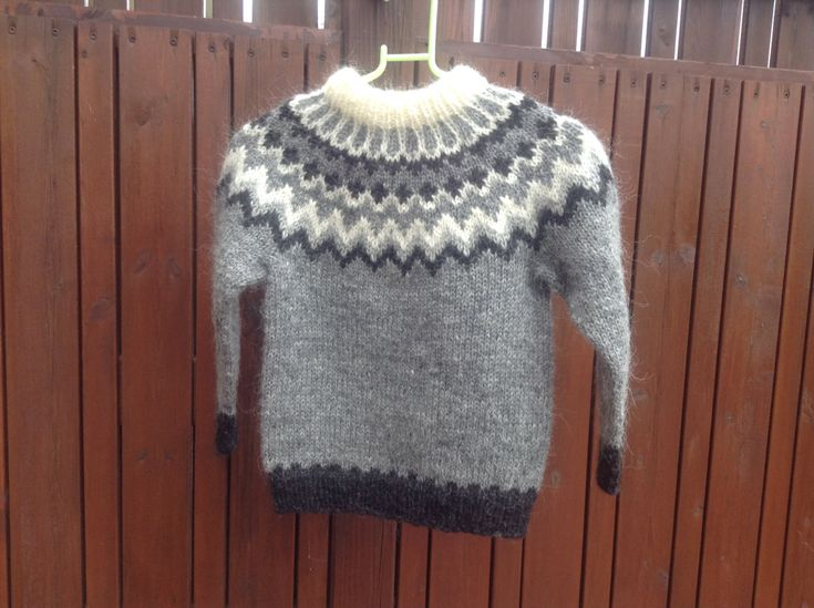 Made to order. Icelandic sweater, for 6 8 10 12 year old, unisex, sweater, jumper, lopapeysa, Icelandic wool, handmade, by Klettur on Etsy