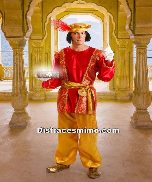 DisfracesMimo, disfraz de paje real gaspar para adulto talla m/l.te convertirá en el perfecto acompañante de los Reyes Medievales o de los Magos de Oriente.Este disfraz es ideal para tus fiestas temáticas de disfraces reyes magos para hombre adulto.