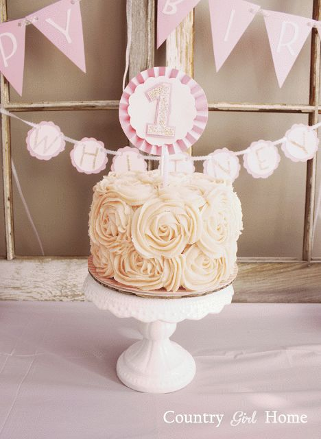 COUNTRY GIRL HOME rose cake