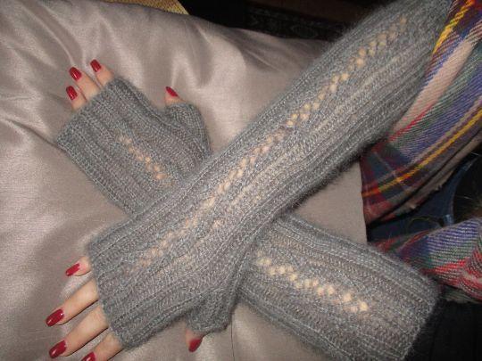 Knitted stylish fingerless gloves, fingerless mittens  #HandmadeMilevknitting #Mittens
