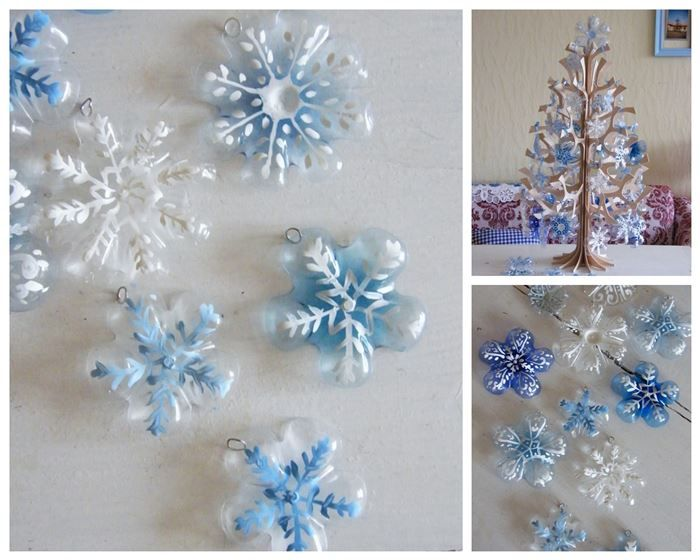 http://diply.com/different-solutions/turn-plastic-bottles-into-gorgeous-snowflake-ornaments/12068