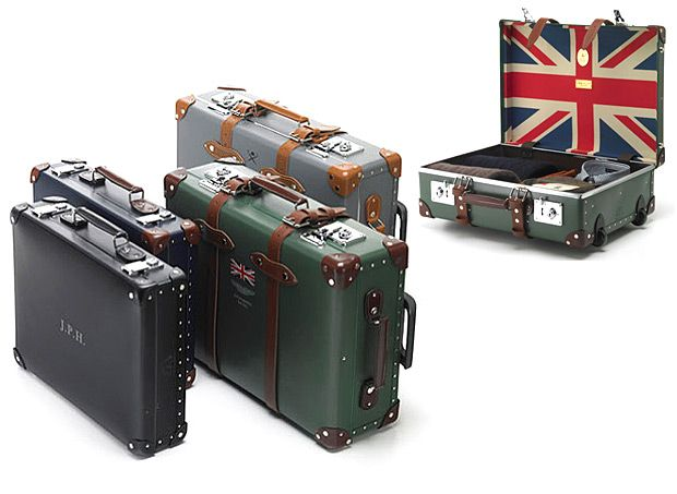 Decidedly British suitcases built for some serious travelling