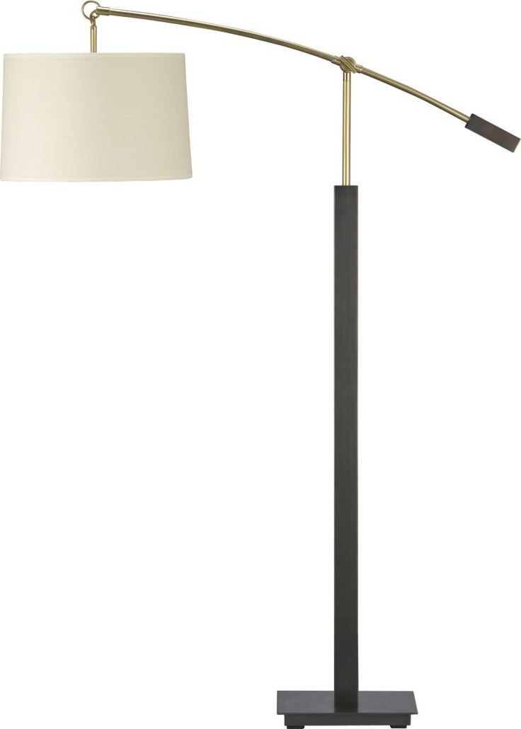 Charles Bronze Floor Lamp In Floor Lamps, Torchieres | Crate And Barrel $399