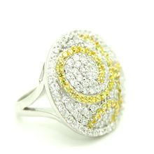 Fashion Jewellery Rings/Designer: The Glamorous Gatsby Ring - Gold Glamorous and Attitude Range-Sterling Silver 925