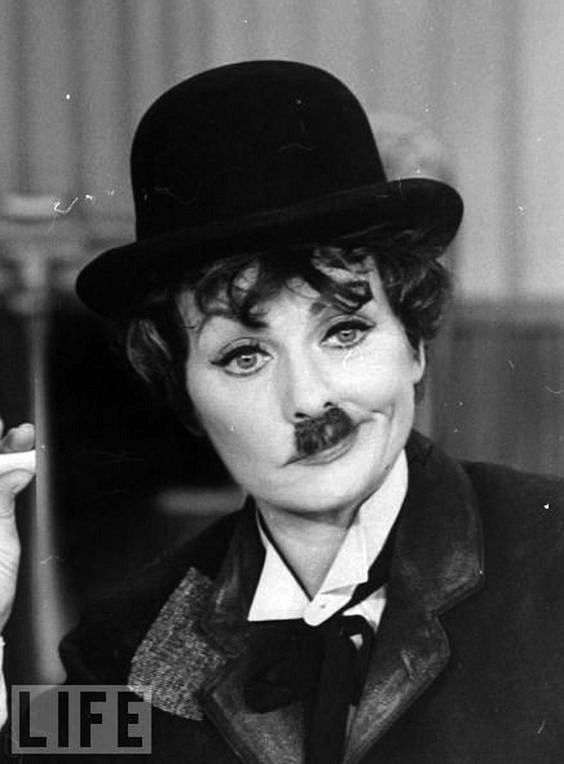 "Lucy does an excellent Charlin Chaplin in a sketch on ""The Lucy Show""."