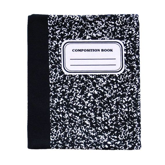 iPad Sleeve Composition Notebook Classic Black & by wonderthreads, $30.00