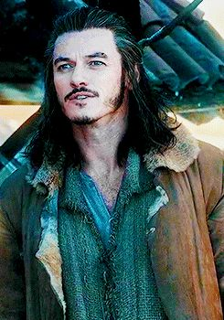 """Luke Evans in The Hobbit: The Desolation of Smaug. I wont say that PJ quite likes men with """"dark"""" features but he does. :D"""